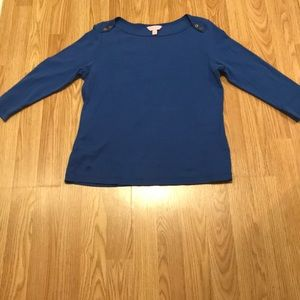 Lilly Pulitzer Tops - Large Lilly Pulitzer Blue Quarter Length Shirt